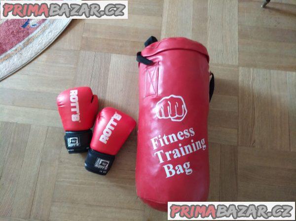 boxerský pytel + boxerské rukavice