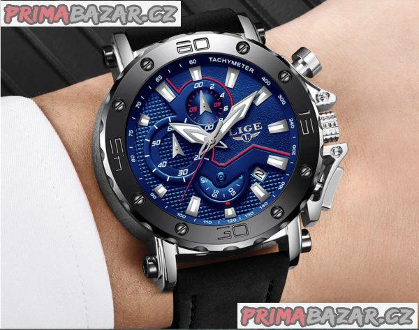 Luxusní nové sportovní chronografické hodinky Lige