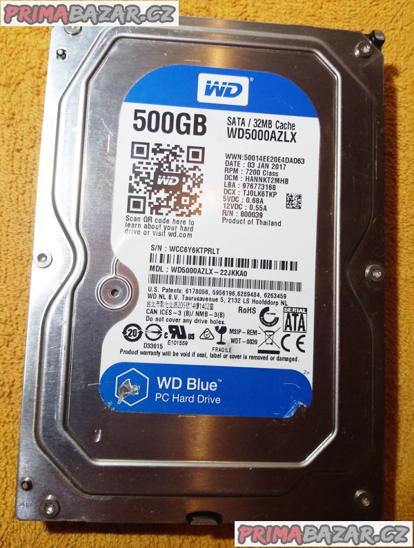 Rychlý HDD pro PC - WD 500 GB!!!