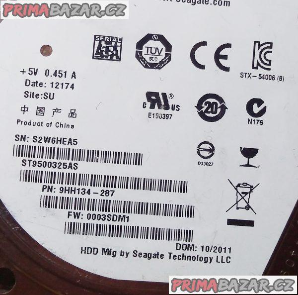 Rychlý HDD pro notebook - Seagate 500 GB!!!