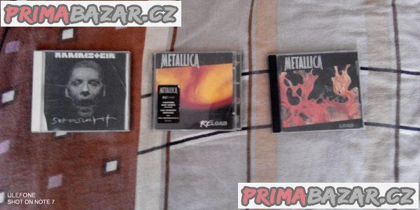 CD Metallica a Rammstein