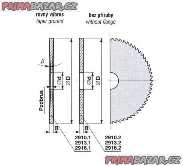 KOTOUČ PILOVÝ NA KOV 250x5x32 mm ČSN 222913 (NOVÝ)