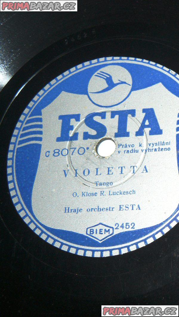 Předválečná gramodeska ESTA - Zd. FIBICH:  Poem, Violetta