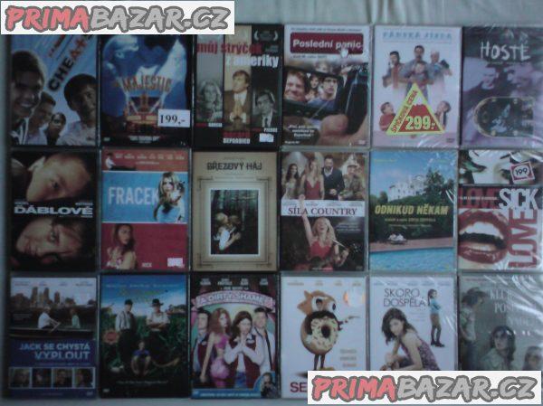 Originál DVD filmy (některé zabalené)