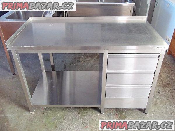 Stůl nerezový 70 x 140 x 88 cm se šuplíky