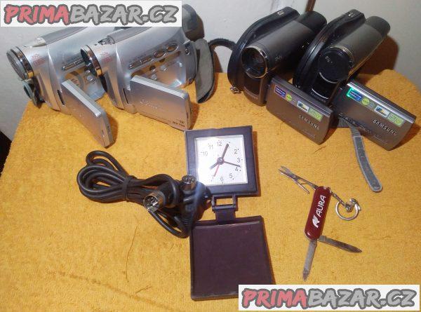 4x Videokamera +kabel 6pin na 5pin +nožík +mini hodiny!