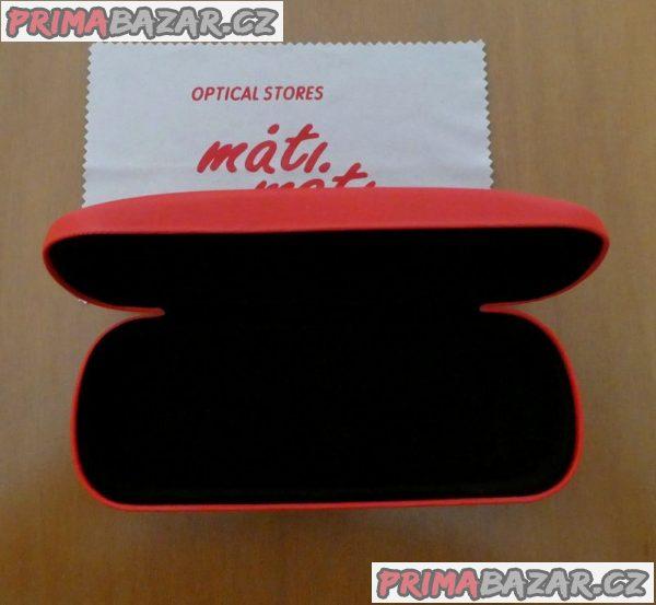 Pouzdro na brýle nové červené Máti-Máti+hadřík