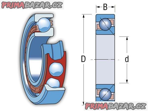 Ložisko 7203 ATB P4 ZKL - vřetena kovoobráběcích strojů