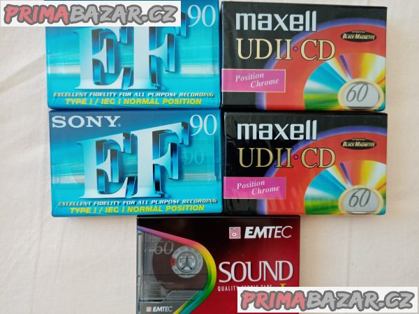 Zabal. MC Maxell UD II CD black magnetite, SONY EF, EMTEC sound