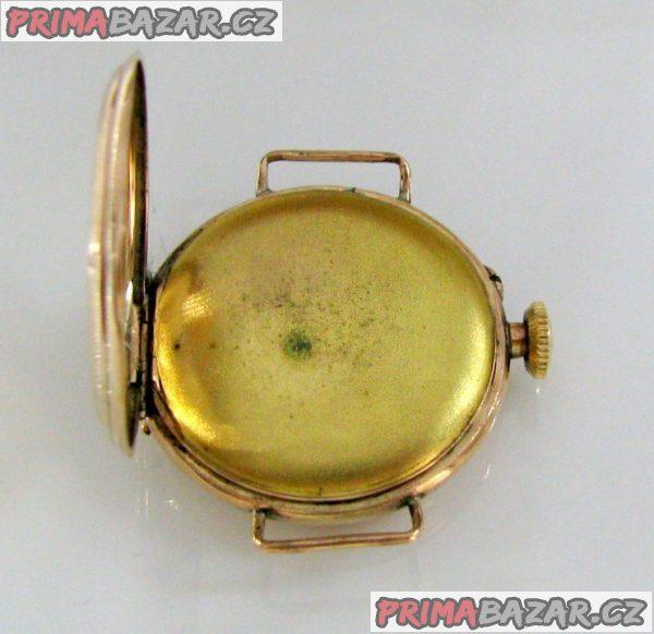 Hodinky zlaté zdobené, jeptišky, funkční