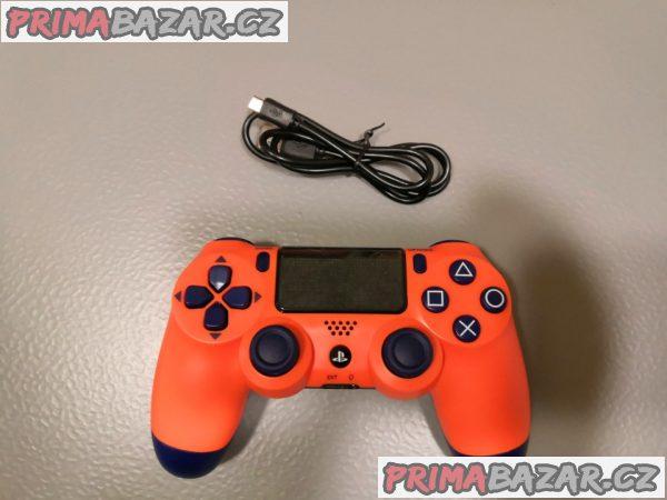 PS4 ovladač - orange