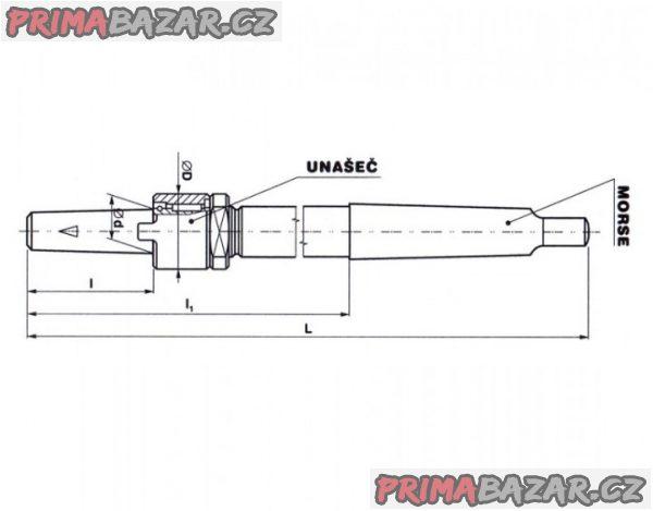 Držák 40/M4, M5 nástrčných výhrubníků a výstružníků (NOVÝ)