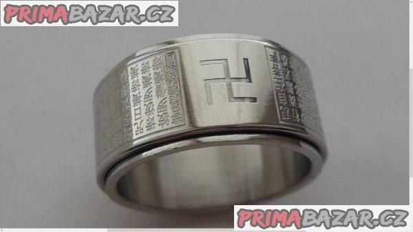 Náboženský prsten, stříbrný.
