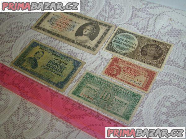 Bankovky Československo rok 1940 - 1949