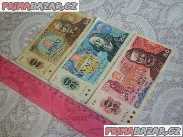 Bankovky Československo rok 1986 - 1988
