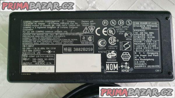 Adaptér pro notebook HP Compaq 18,5V/2,7A/50W