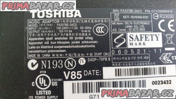 Adaptér pro notebook Toshiba 15V/5A/75W