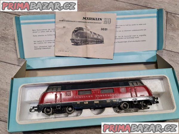 Mašinka lokomotiva marklin z roku 1960 3021