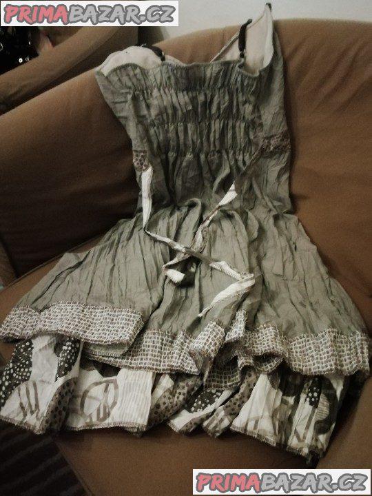 Letní šaty vel. L, butik, nové bez visačky