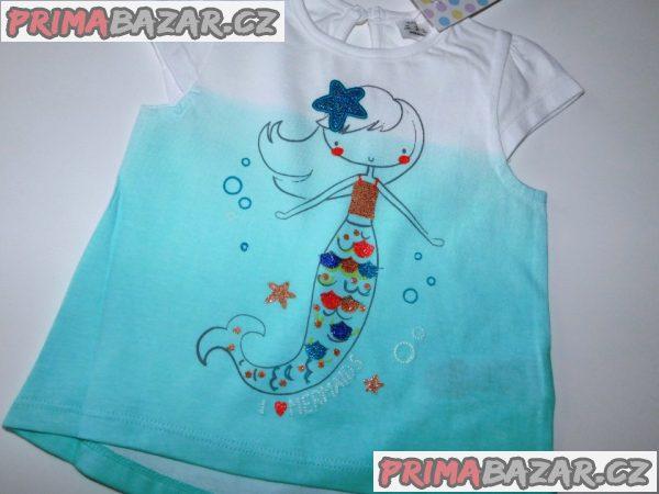 Dívčí bavlněné triko-Nové-vel.68