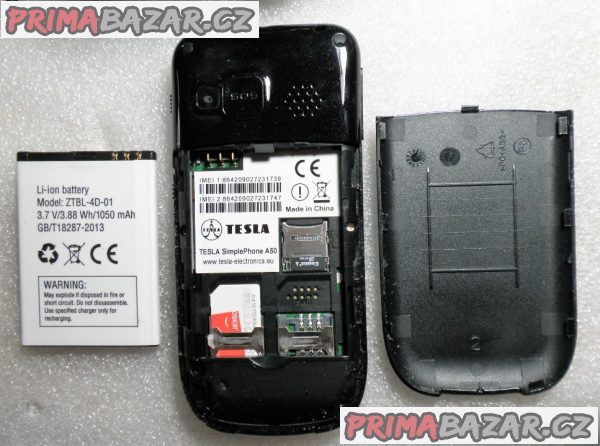 Tlačítkový telefon Tesla A50